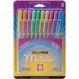 369185 Sakura Gelly Roll Metallic Medium Point Pens Assorted Colors