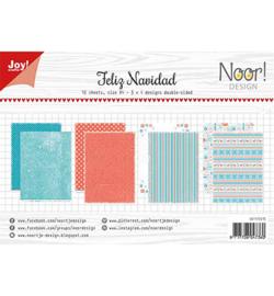 6011/0615 Noor Papier Set A4 Design Design Feliz Navidad