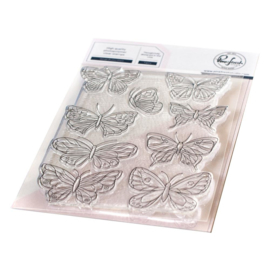 "PF118621 Pinkfresh Studio Clear Stamp Set Small Butterflies 4""X6"""