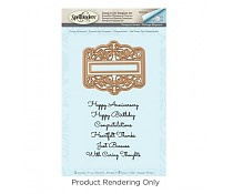 SDS-054 Spellbinders Giving Occasions Stamp And Die Set