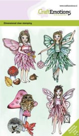 130501/0101 CraftEmotions clearstamps A6 - Fairies GB Dimensional stamp