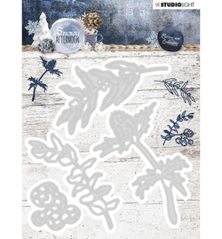 STENCILSA217 - Cutting and Embossing Die Cut, Snowy Afternoon nr.217
