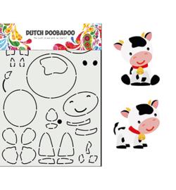 470.713.859 Dutch DooBaDoo Card Art Built up Koe