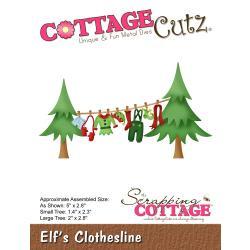 """540402 CottageCutz Die Elf's Clothesline 1.4"""" To 5"""""""