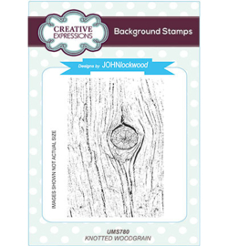 UMS780 Background Stamp Knotted Woodgrain