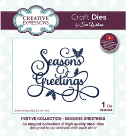 CED3154 The Festive Collection Seasons Greetings