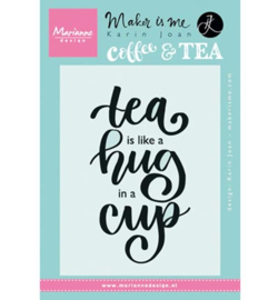 KJ1710 Marianne Design stempel Quote Tea is like a hug in a cup