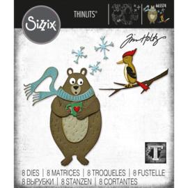 665574 Sizzix Thinlits Dies Cozy Winter By Tim Holtz 8/Pkg