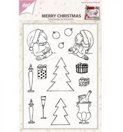 6410/0433 Stempel Merry xmas by antoinette