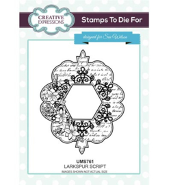 UMS761 Stamps To Die For Larkspur Script