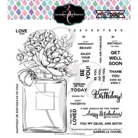 """624372 Colorado Craft Company Clear Stamps Perfume Bouquet-Big & Bold 6""""X6"""""""