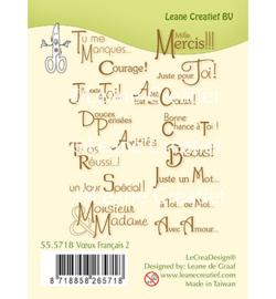 555718 Clear Stamp Combi Voeux / Texte Français 2.
