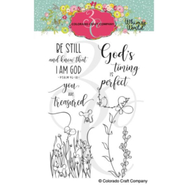 "653841 Colorado Craft Company Clear Stamps Be Still Bookmarks-Whimsy World 4""X6"""