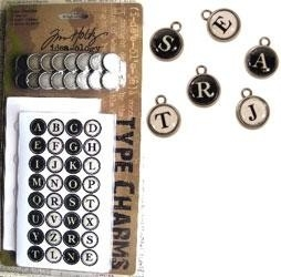ADTH92819 Tim Holtz Type Charms