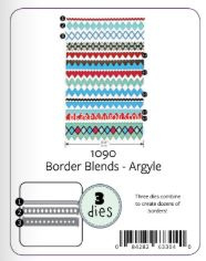 KBR1090 Karen Burniston Dies Border Blends Argyle