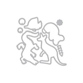 629470 Hero Arts Frame Cut Dies Patterned Animals