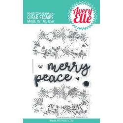 "541774 Avery Elle Clear Stamp Set Peaceful Pines 4""X6"""