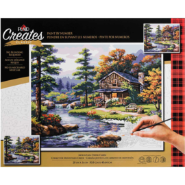 "558013 Paint By Number Kit Mountain Creek Cabin 16""X20"""