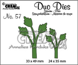 115634/0757 Crealies Duo Dies no.57 blaadjes 11 CLDD57 33 x 49 mm 24 x 35 mm