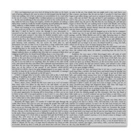 "652516 Hero Arts Clear Stamps Novel Prose Bold Prints 6""X6"""