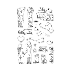 "556868 Hero Arts Clear Stamps Lucky Star 4""X6"""