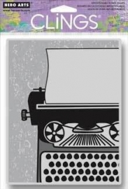 HA-CG511 Hero Arts Cling Stamps Big Typewriter
