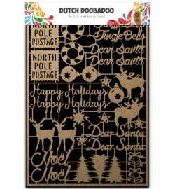 479.002.012 Dutch DooBaDoo Craft Art A5 Christmas