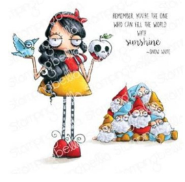 EB973 Stamping Bella Cling Stamps Oddball Snow White