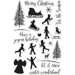 """HA-CM179 Hero Arts Clear Stamps Winter Silhouettes 4""""X6"""""""