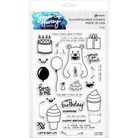 "629876 Simon Hurley create Cling Stamps  Cake Walk 6""X9"""