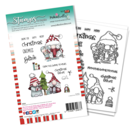 PD8097A Polkadoodles Christmas Fishes Clear Stamps