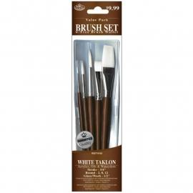 325161 Brush Set Value Pack White Taklon