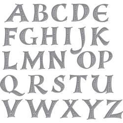S7214 Spellbinders Shapeabilities Dies Alphabet