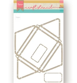 PS8071 Marianne Design Craft Stencil A4 Envelope