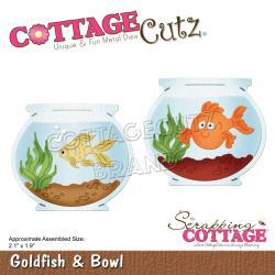561323 CottageCutz Dies Goldfish & Bowl