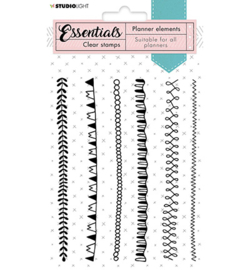 SL-PES-STAMP06 StudioLight Clear Stamp Borders Planner Essentials nr.06