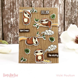 T4T/447/BeS/Cle Time For Tea Be Slothy Clear Stamps