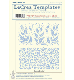 95.4469 LeCrea Templates Leaves & swirls