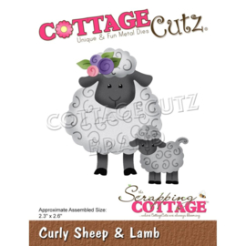 "CC893 CottageCutz Dies Curly Sheep & Lamb 2.3""X2.6"""