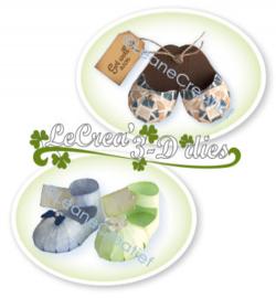 457262 Leane Creatief Baby schoen en slipper