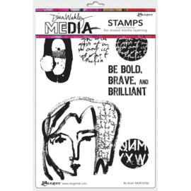 "MDR 74786 Dina Wakley Media Cling Stamps Be Bold 6""X9"""