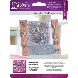 "375990 Die'ssire Create-A-Card Interchangeable Die Country Garden, 5""X5"""