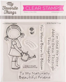 """PI318 My Favorite Things Pure Innocence Stamps Grow Together 4""""X4"""""""