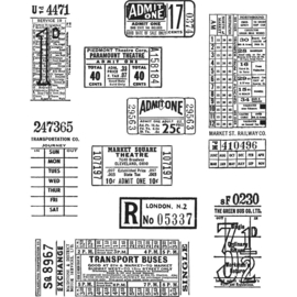 "CMS 337 Tim Holtz Cling Stamps Ticket Booth 7""X8.5"