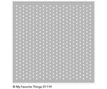 ST-119My Favorite Things Mini Staggered Raindrops Stencil