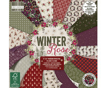 FEPAD220X19 First Edition Winter Rose 6x6 Inch Paper Pad