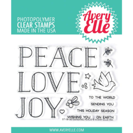 "541776 Avery Elle Clear Stamp Set Sending Peace 4""X3"""