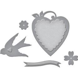 S2261 Spellbinders Shapeabilities Dies By Sharyn Sowell Swallow & Heart