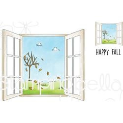 546732 Stamping Bella Cling Stamps Fall Window