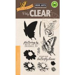 "HA-CM225 Hero Arts Clear Stamps Color Layering Swallowtail 4""X6"""